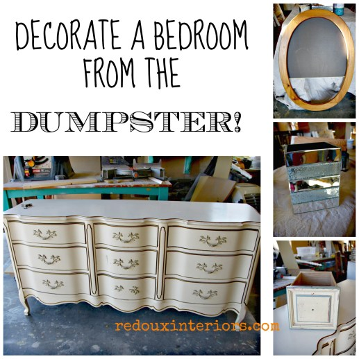 Decorate a bedroom from a dumpster redouxinteriors