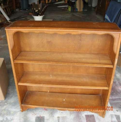 Dumpster solid wood bookshelf redouxinteriors