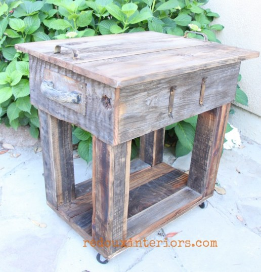 junk table with barn wood overlay complete redouxinteriors