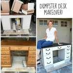 Dumpster Desk makeover redouxinteriors