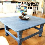 Coffee Table in Denim up close cece caldwells redouxinteirors