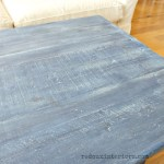 Coffee Table in Denim up close cece caldwells redouxinteriors