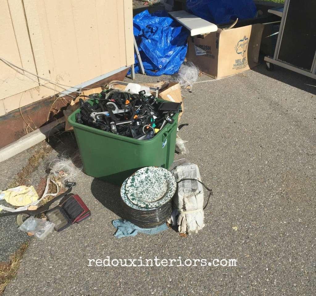 Pile of plates junk in utah redouxinteriors