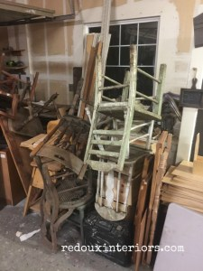 Piles of Junk chairs redouxinteriors