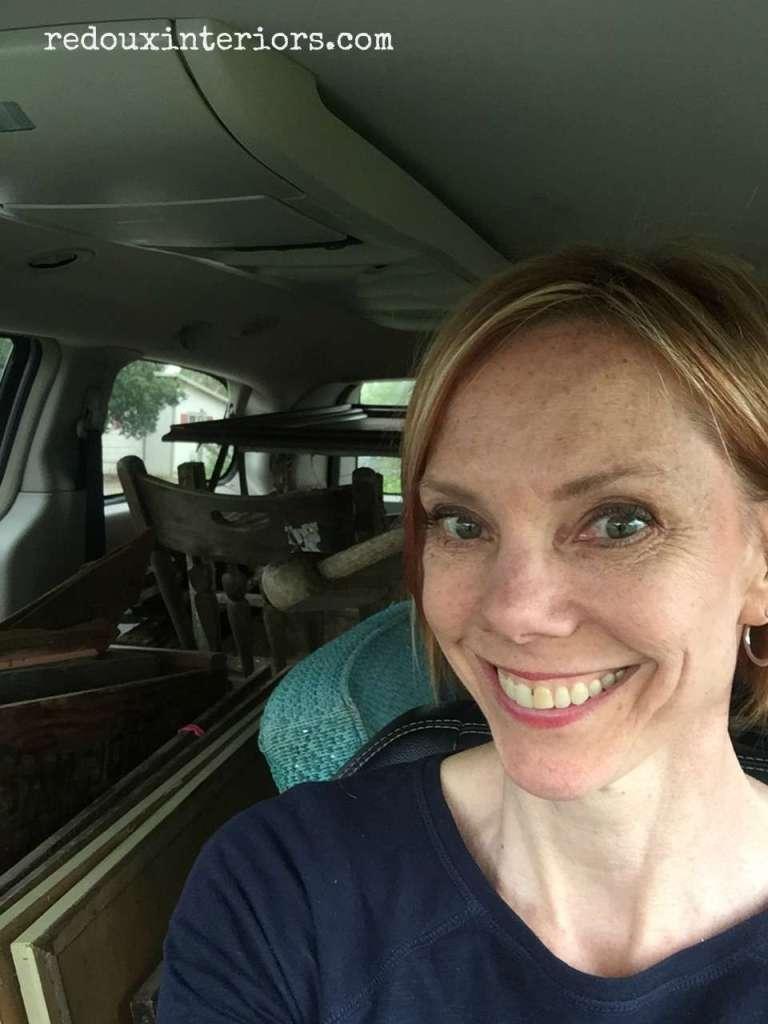 Redoux in Van filled with Junk