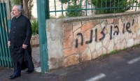 Jerusalem monastery defaced by Jews