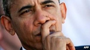 Pensive Obama