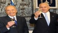 Shimon Peres and Binyamin Netanyahu
