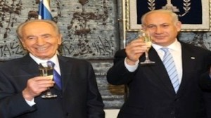 Shimon Peres and Binyamin Netanyahu