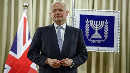 William Hague friend of Israel
