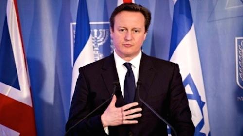 David Cameron and the Israeli flag