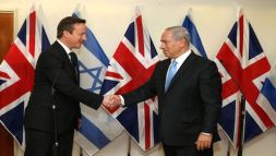 David Cameron and Binyamin Netanyahu
