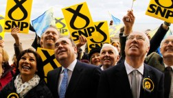 Jubilant Scottish National Party cadres