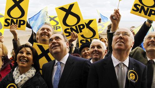 Jubilant Scottish National Party cadres
