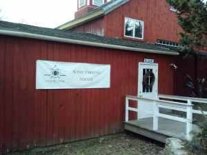 The front entrance to Amherst Farm Winery