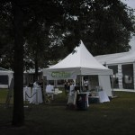 A tented event.