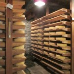 The cheese aging room