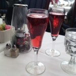 Champagne and Cranberry for Breakfast!