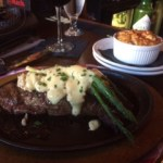 NY Strip with Bernaise and asparagus