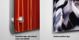 Polished Edge VS Un-polished Edge Gallery Clear Plex