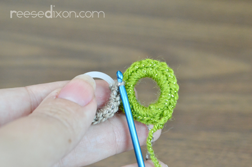 Connect Crochet Circles Step 2