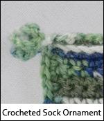 Crocheted Sock Ornament
