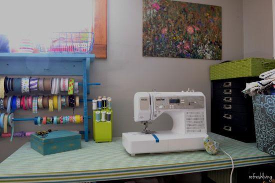 thread organizer sewing area