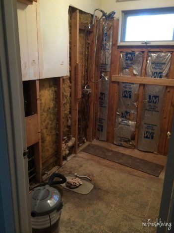 bathroom remodel gut