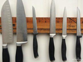 Vintage Yard Stick Knife Rack