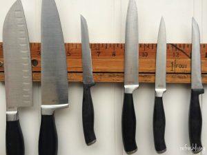 how to make a magnetic knife rack | unique knife rack | unique knife holder | vintage kitchen