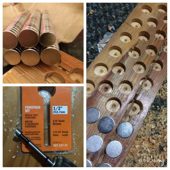 diy wood magnetic knife holder