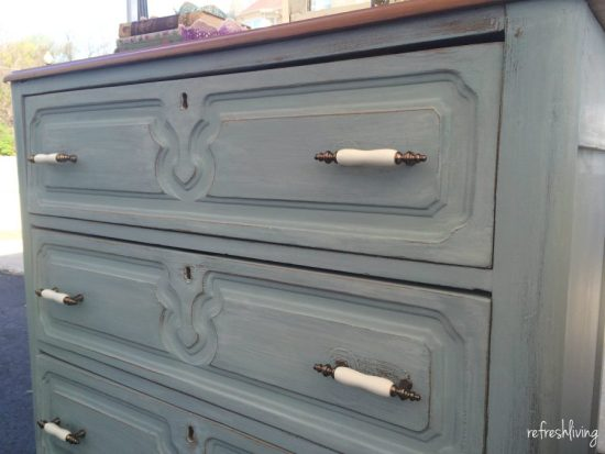 milk paint bergere gray blue dresser