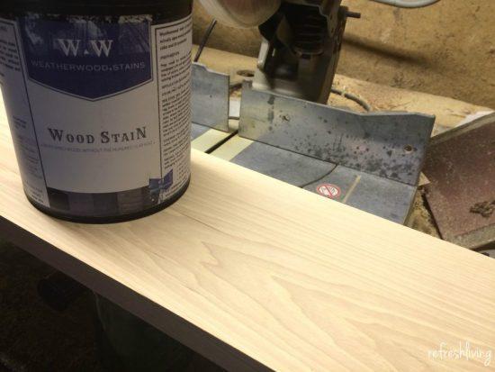 weatherwood stain diy sign