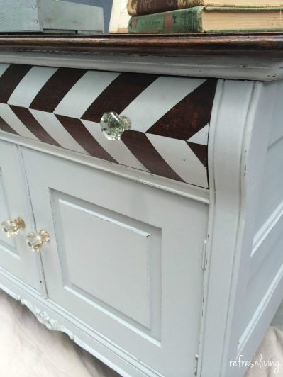 antique painted dresser with old fashioned milk paint