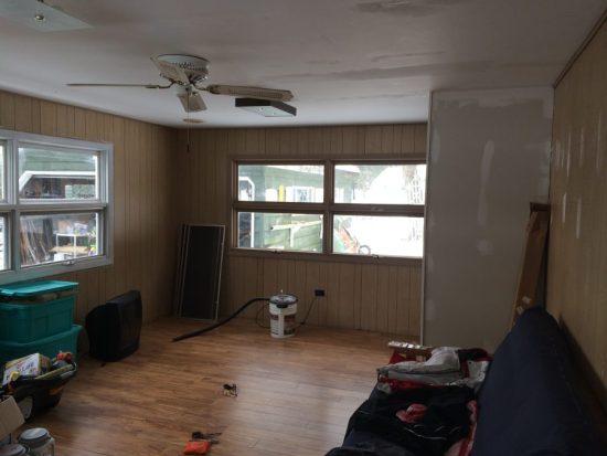 cottage room in progress