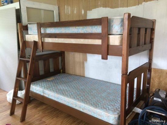 bunk bed update before