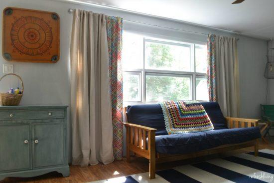 diy drop cloth curtain tutorial