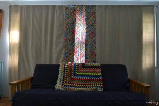 diy drop cloth lined curtains