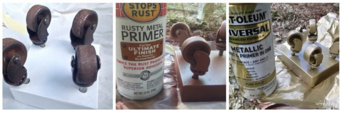 how to spray paint over rust