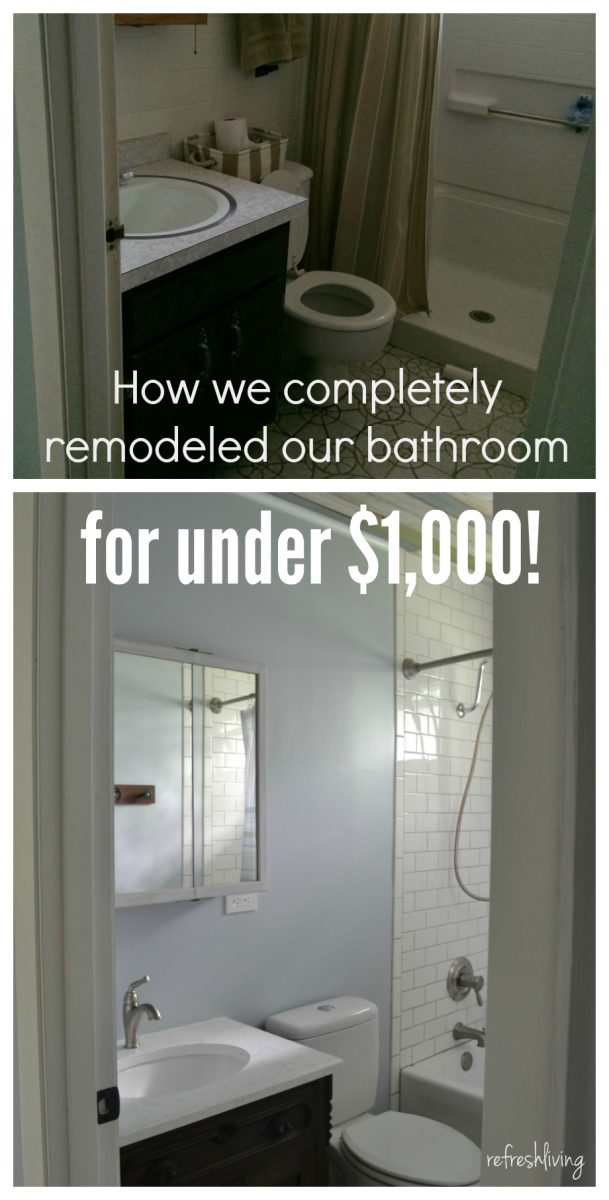 Bathroom remodel on a budget with reclaimed materials for Remodeling bathroom on a budget ideas