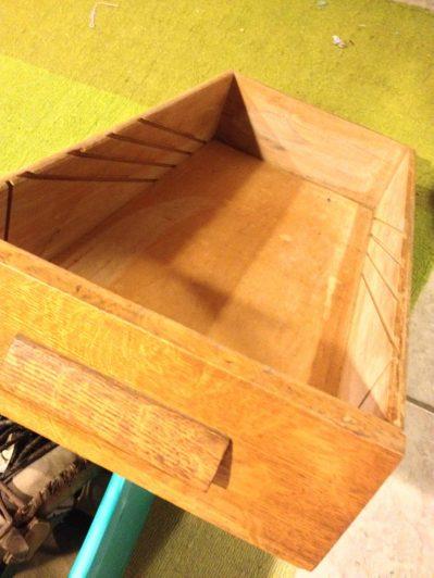 upcycled drawer to shelf