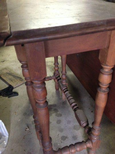 antique gate leg table before