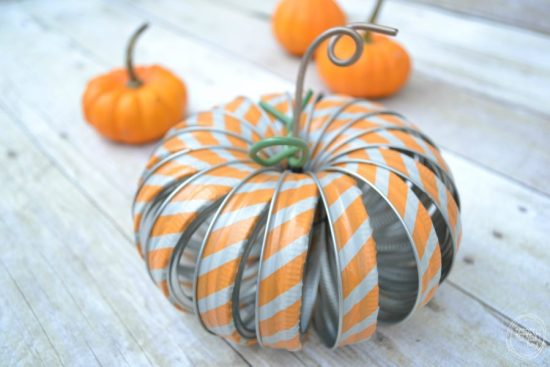 mason jar ring pumpkins with washi tape