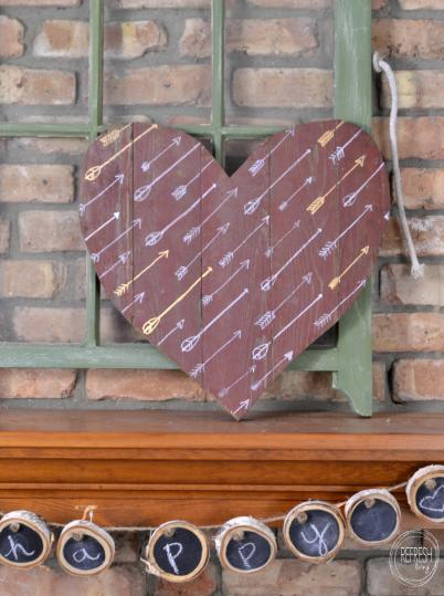 rustic valentine's decor | barn wood heart made with salvaged wood