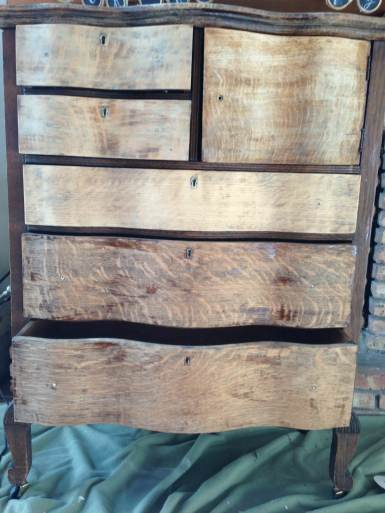 stripped antique dresser
