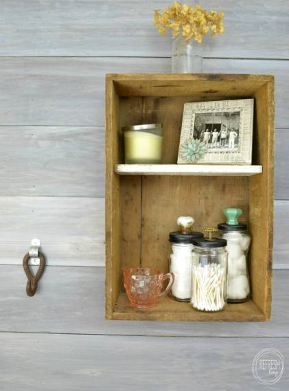 upcycled glass jars with vintage jars
