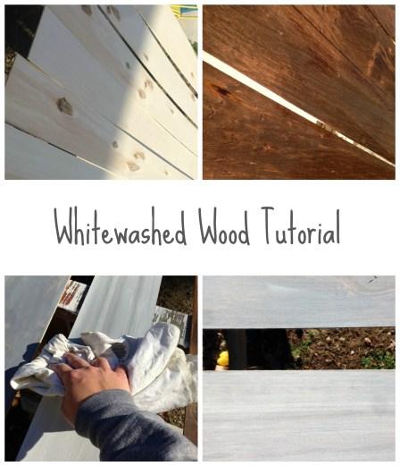 whitewashed wood tutorial