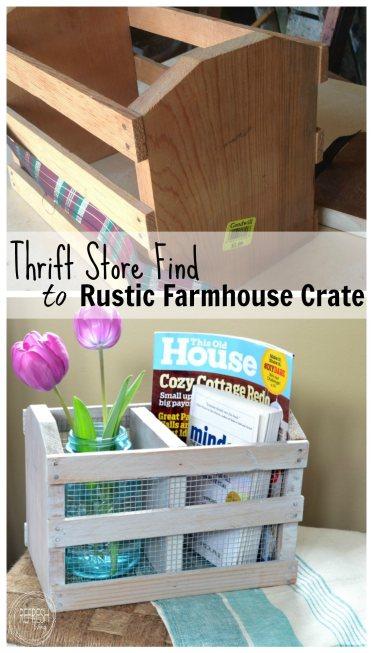 diy rustic farmhouse box