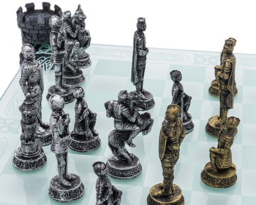 Outstanding Glass Chess Set Medieval Knight Edition Glass Chess Set Medieval Knight Edition Medieval Chess Set Ms Medieval Chess Set Canada
