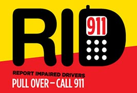 Report Impaired Drivers - Pull over, Call 911
